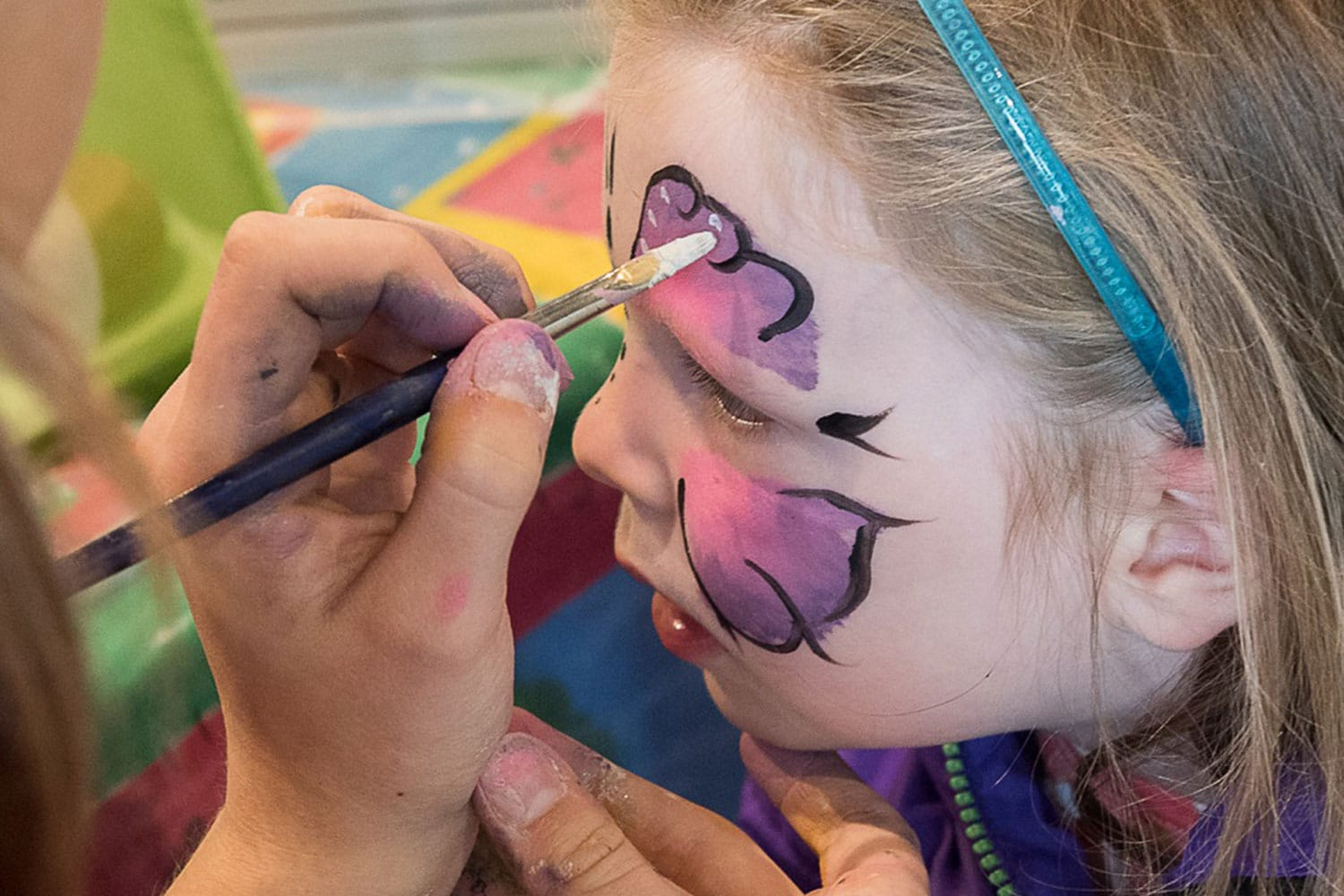 Face painting at Springtime Live