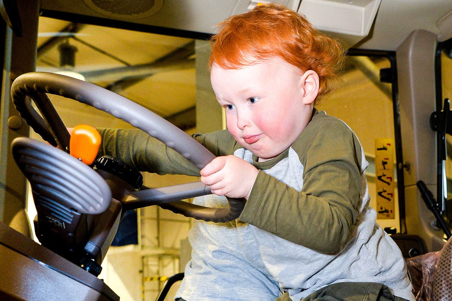 Child on tractor at Springtime Live