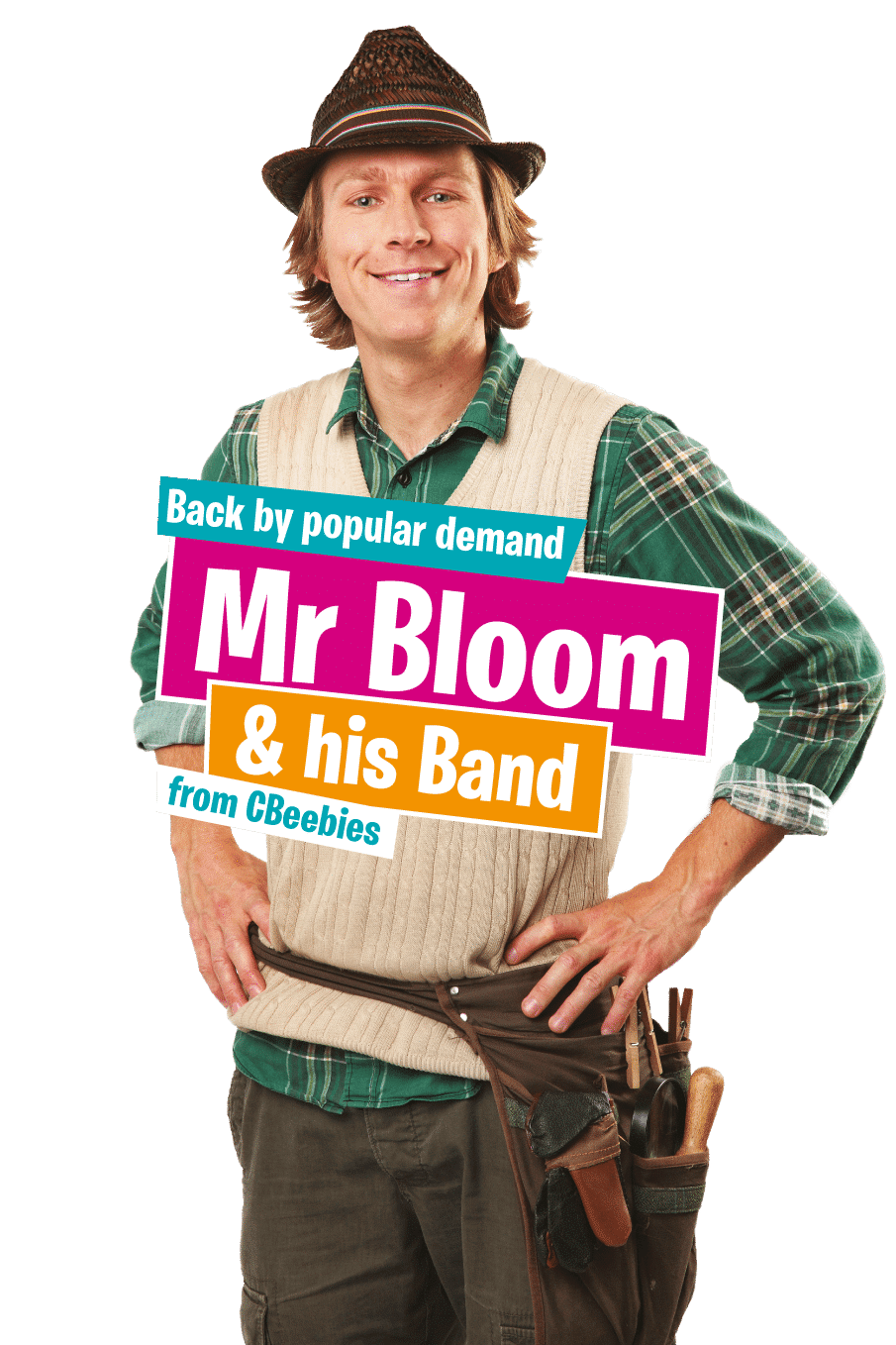 Mr bloom from Cbeebies Springtime Live